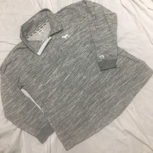 NWOT VS Love PINK gray button up pullover